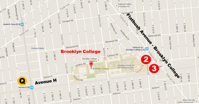 map Brooklyn College